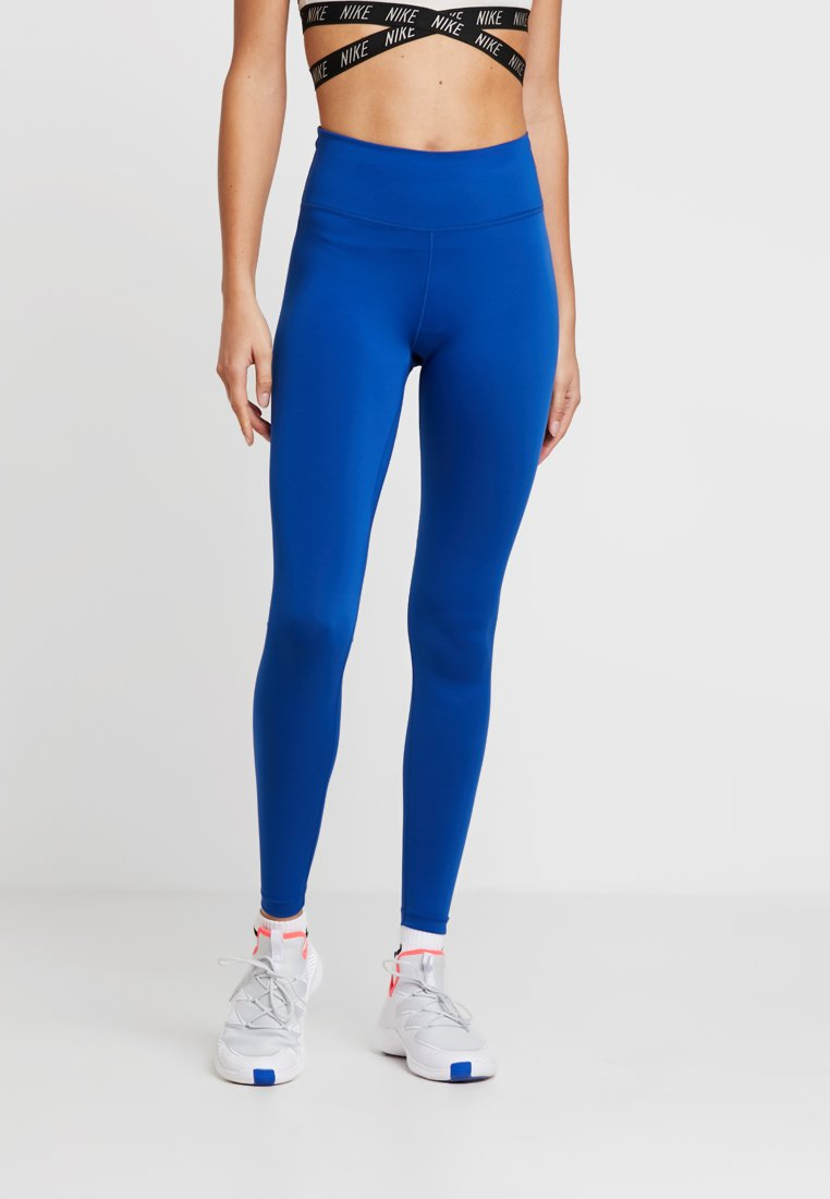 Nike Performance - NIKE ONE TGHT - Legginsy - indigo force/black