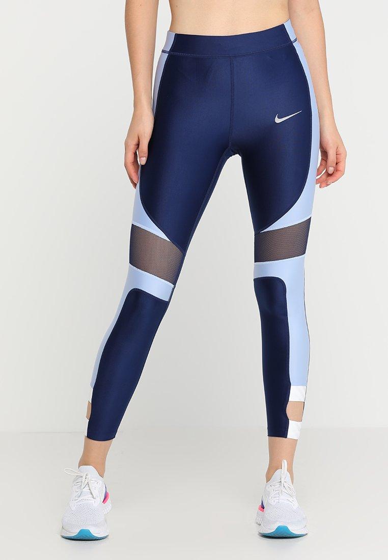 Nike Performance - ICON CLASH SPEED 7/8 - Leggings - blue void/aluminum/white/silver
