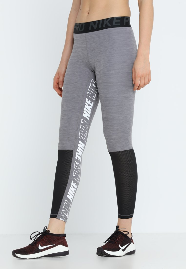 Nike Performance - ICON CLASH GRAPHIC NIKE PRO 7/8 - Tights - gunsmoke/heather/anthracite/white