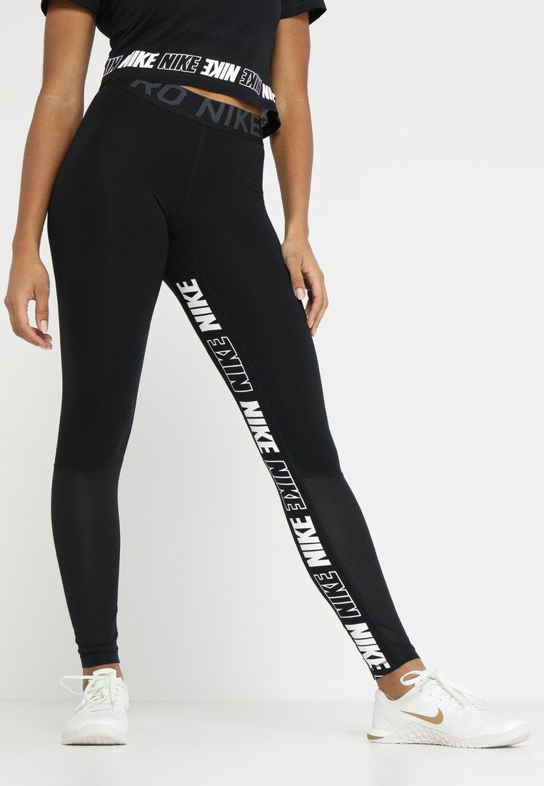 Nike Performance - ICON CLASH GRAPHIC NIKE PRO 7/8 - Tights - black/anthracite/white