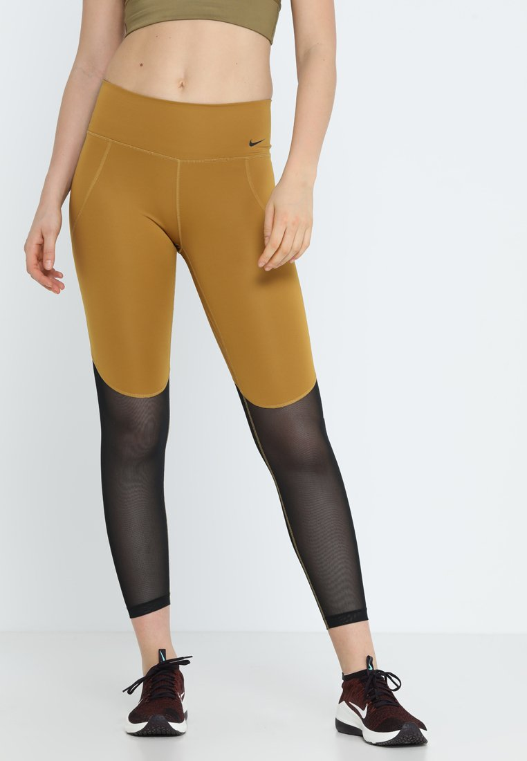 Nike Performance - ICON CLASH GRAPHIC 7/8 - Tights - wheat/black