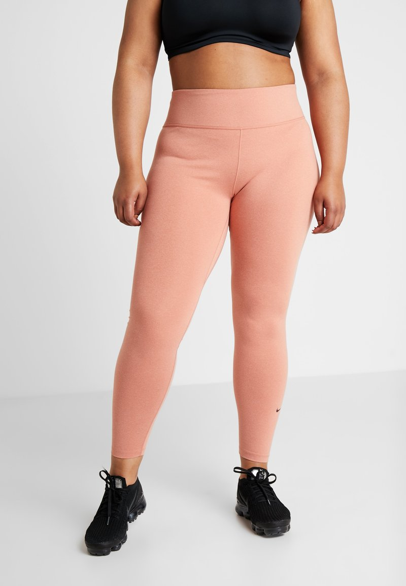 Nike Performance - ALL IN PLUS - Tights - dusty peach/black