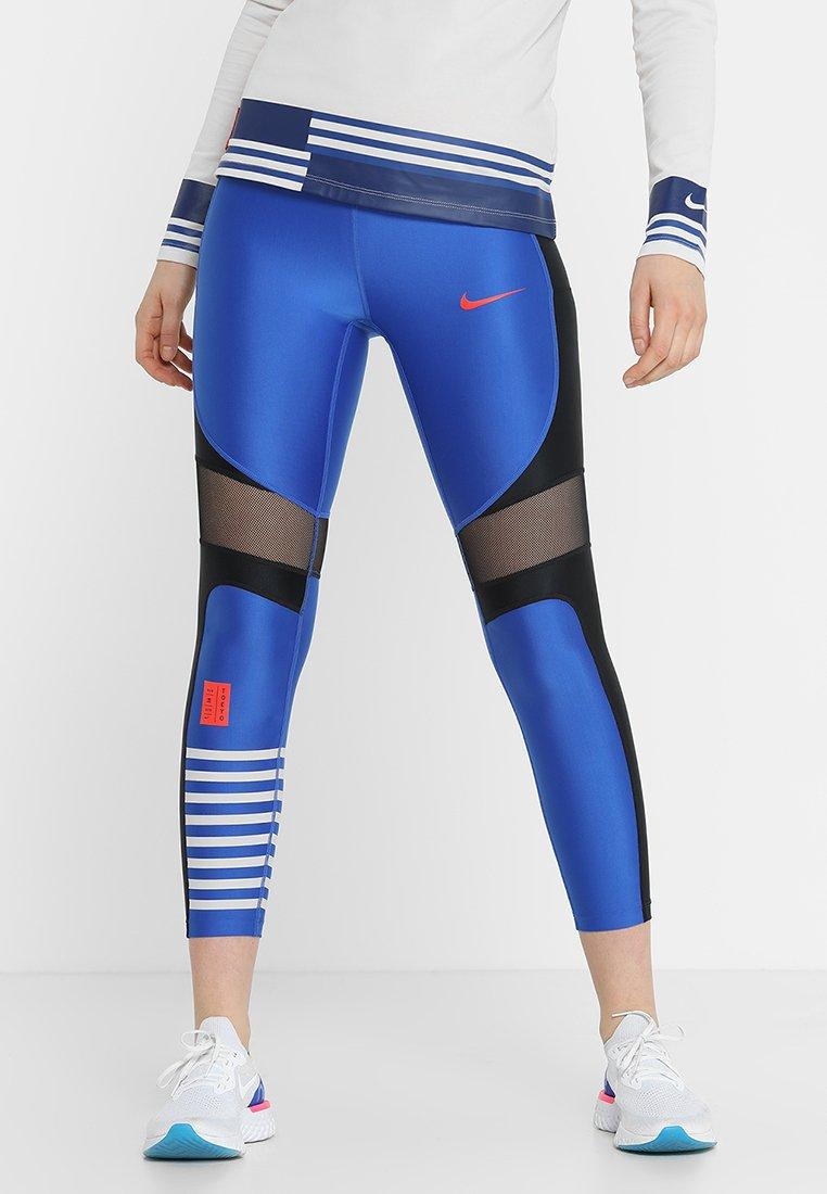 Nike Performance - SPEED - Collant - black/indigo force/blue void/habanero red