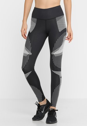 GYM BEST - Leggings - black/white