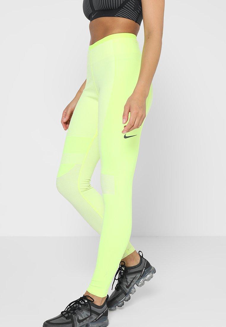 Nike Performance - TECH PACK RUNNING - Tights - volt/light cream/black/silver