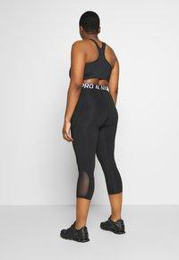 Nike Performance - CROP PLUS - Tights - black/white - 2