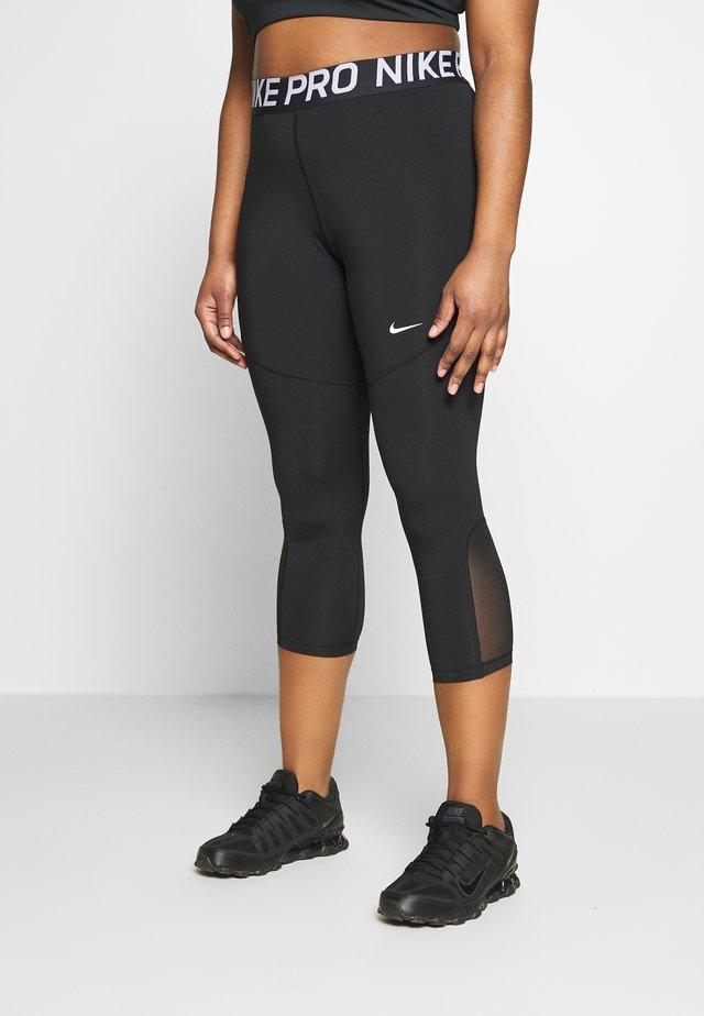 CROP PLUS - Leggings - black/white