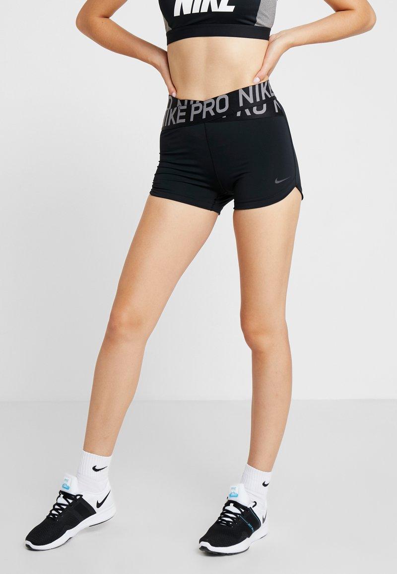 Nike Performance - INTERTWIST SHORT - Tights - black/thunder grey