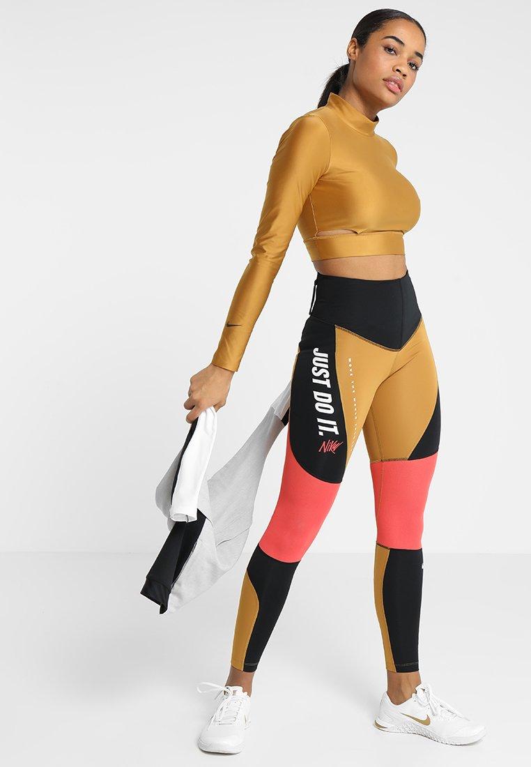 Buy Black Reebok Colour Block Tights | JD Sports | JD Sports