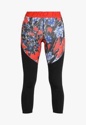 HYPERFLORA CROPPED TIGHT - Leggings - white/black/mystic red