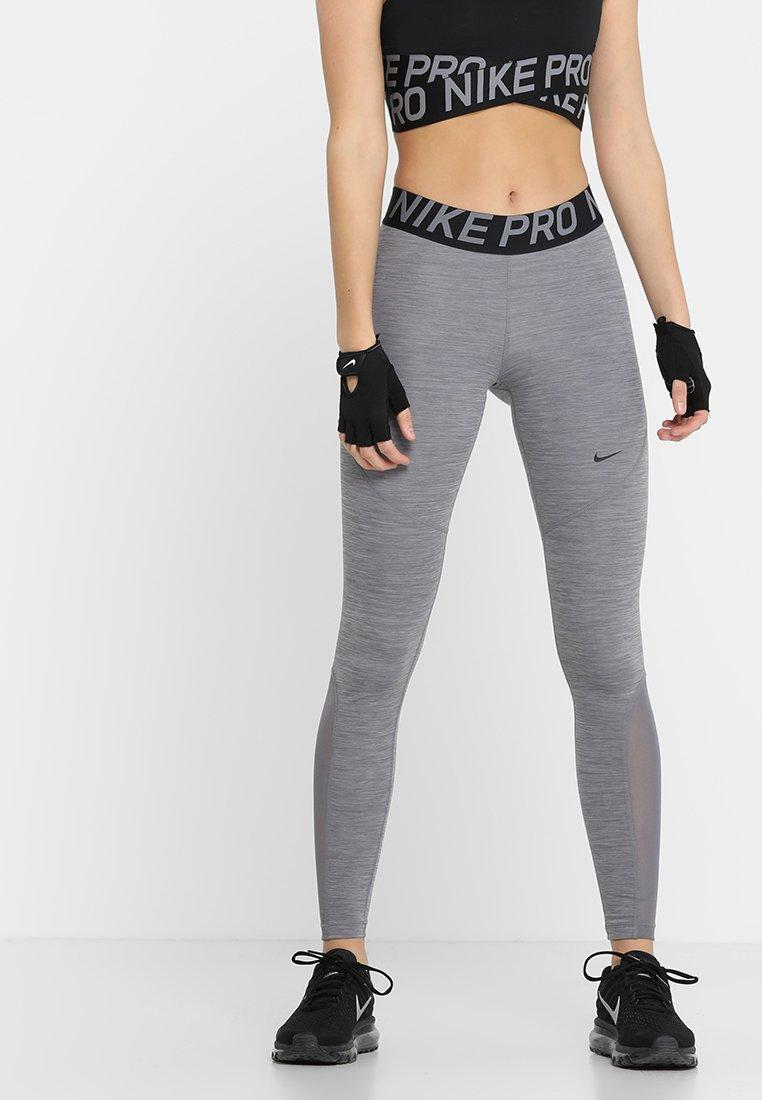 Nike Performance - W NP TIGHT - Trikoot - gunsmoke/heather/gunsmoke/black