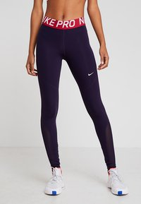 Nike Performance - W NP TIGHT - Tights - purple dynasty/white - 0