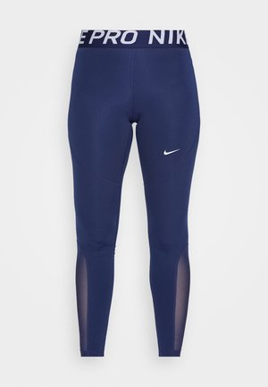 Legginsy - midnight navy/midnight navy/white