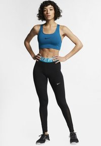 Nike Performance - W NP TIGHT - Leggings - black/turquoise/white - 1