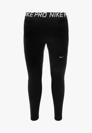 PLUS - Leggings - black/white