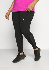 Nike Performance - PLUS - Tights - black/active fuchsia/white - 0