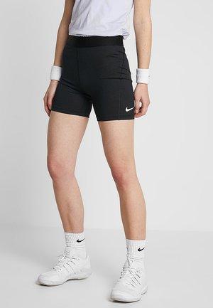 SHORT  - Leggings - black/white