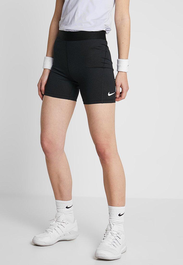 Nike Performance - SHORT  - Legginsy - black/white