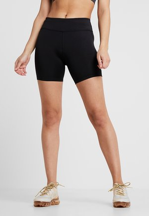 FAST SHORT - Leggings - black/reflective silver
