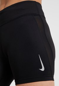 Nike Performance - FAST SHORT - Tights - black/reflective silver - 5