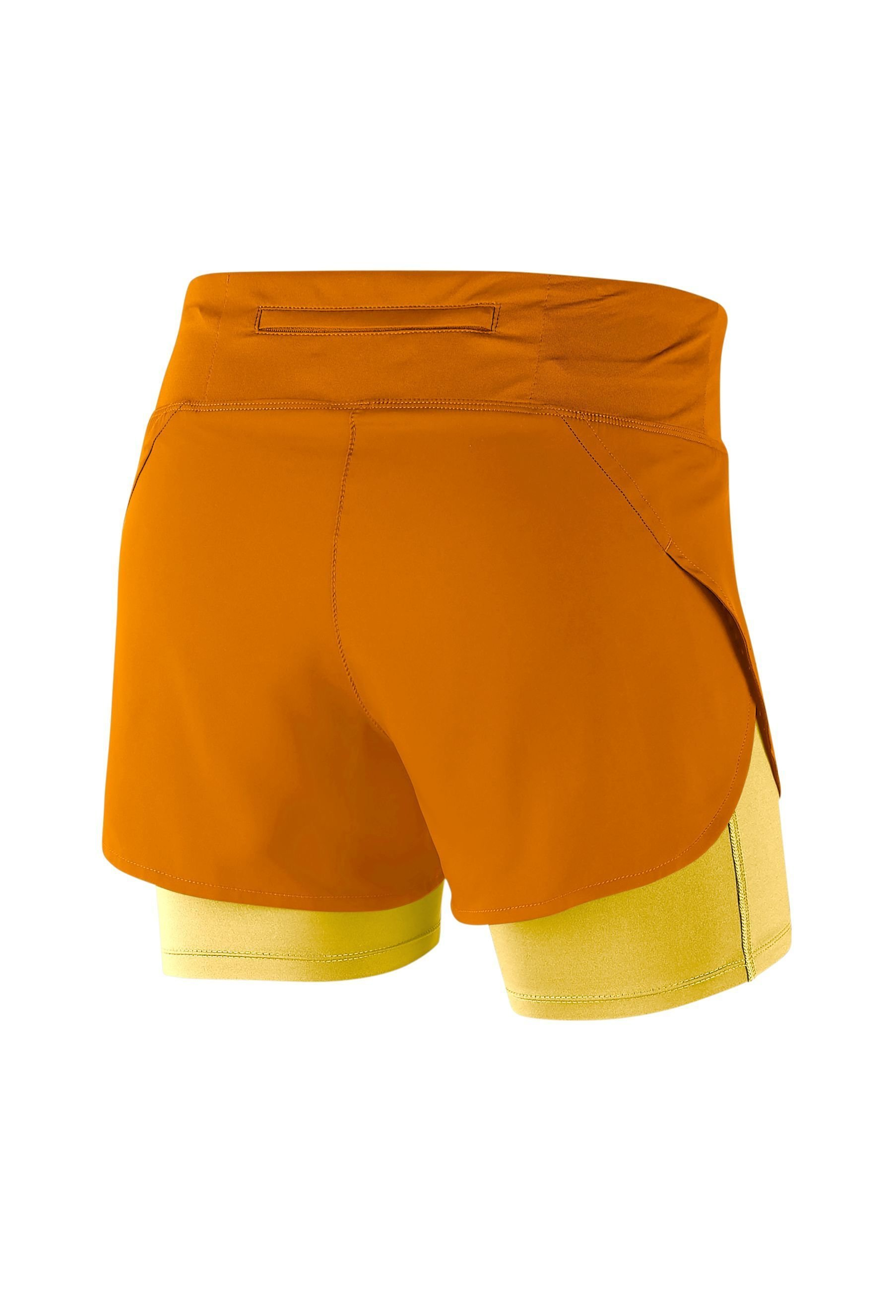 Nike Performance ECLIPSE - Pantaloncini sportivi - magma orange/topaz gold