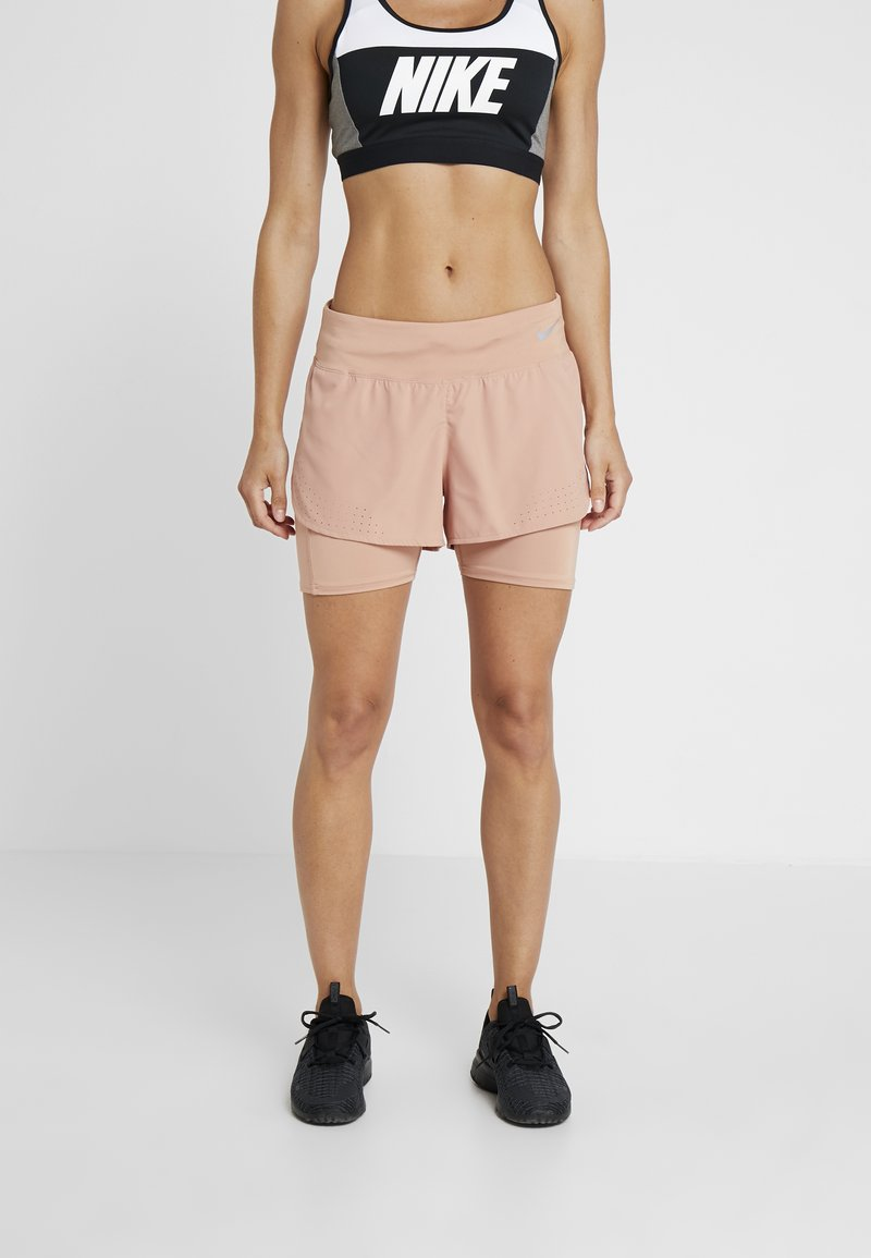 Nike Performance - ECLIPSE SHORT - kurze Sporthose - rose gold/silver