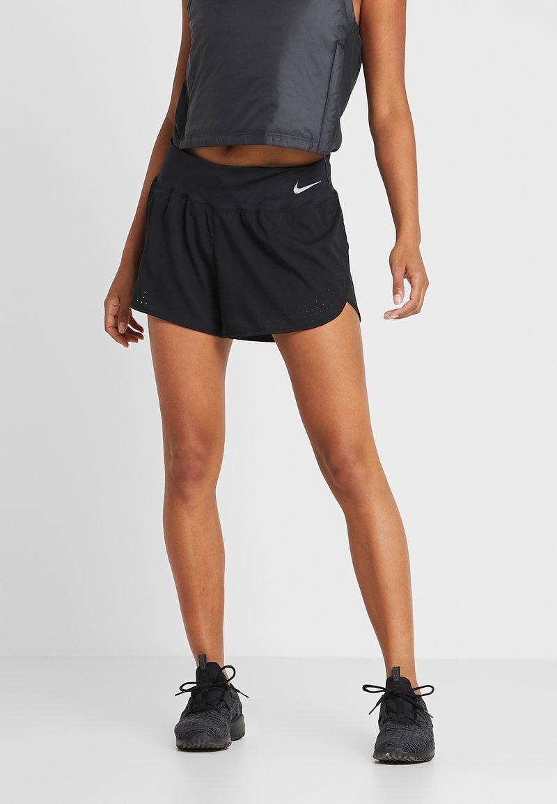 Nike Performance - ECLIPSE SHORT  - Urheilushortsit - black/reflective silver