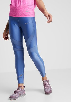 SPEED - Leggings - indigo storm/reflective silver