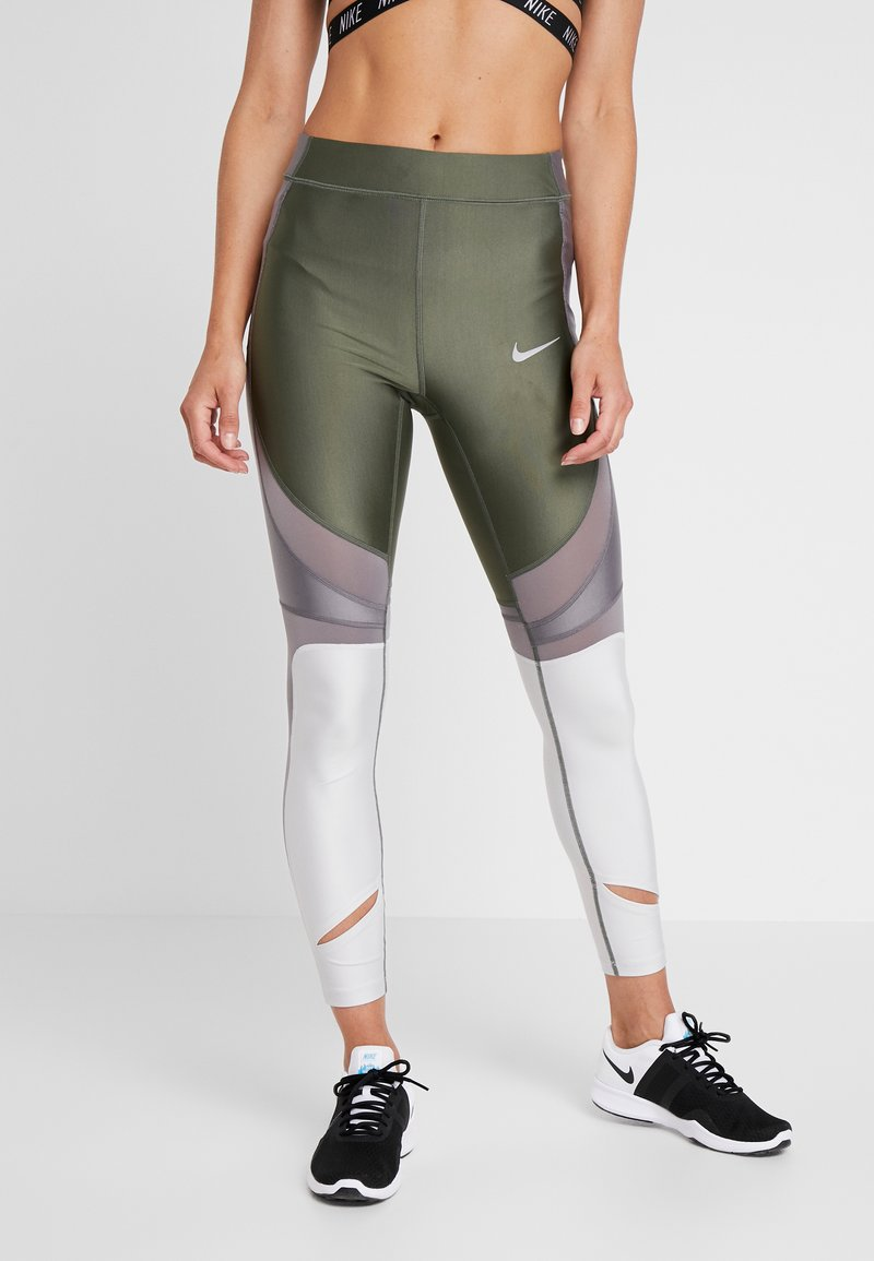 Nike Performance - SPEED - Legginsy - juniper fog/anthracite/vast grey/silver