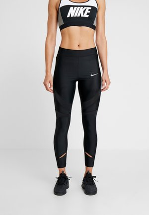SPEED - Tights - black/reflective silver