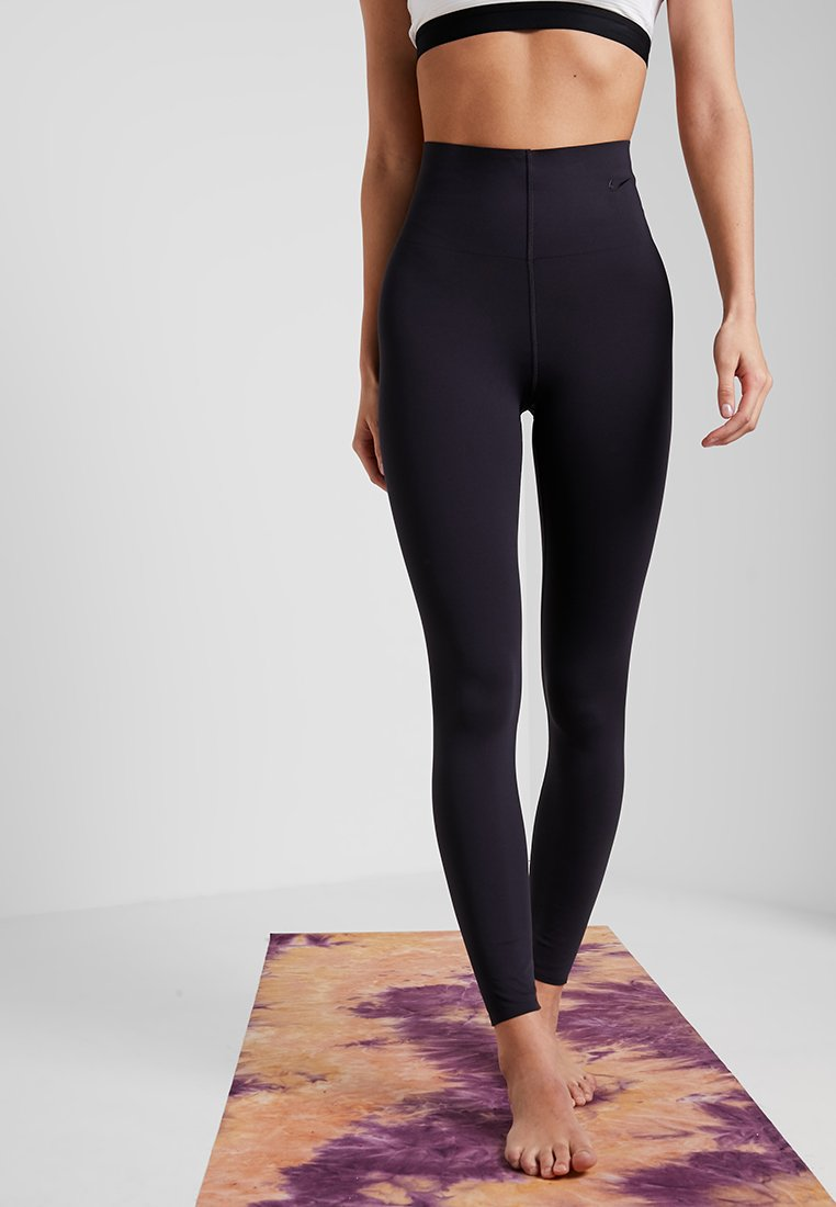 Nike Performance - W NK SCULPT LUX TGHT 7/8 - Tights - oil grey/clear