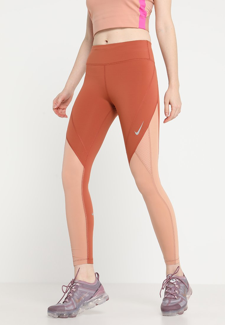 Nike Performance - EPIC LUX  - Tights - dusty peach/rose gold/reflective silver