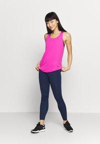 Nike Performance - W NIKE ONE LUXE TIGHT - Leggings - midnight navy/white - 1