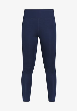 W NIKE ONE LUXE TIGHT - Tights - midnight navy/white