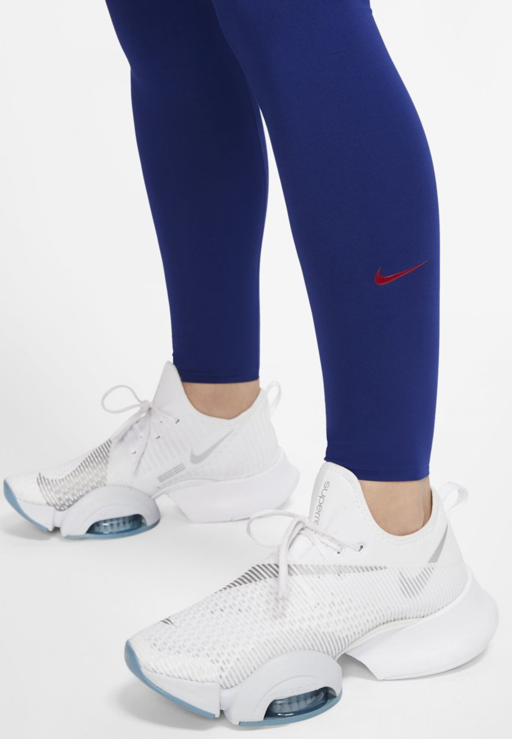 Nike Performance W One Luxe Tight - Tights Deep Royal Blue/noble Red