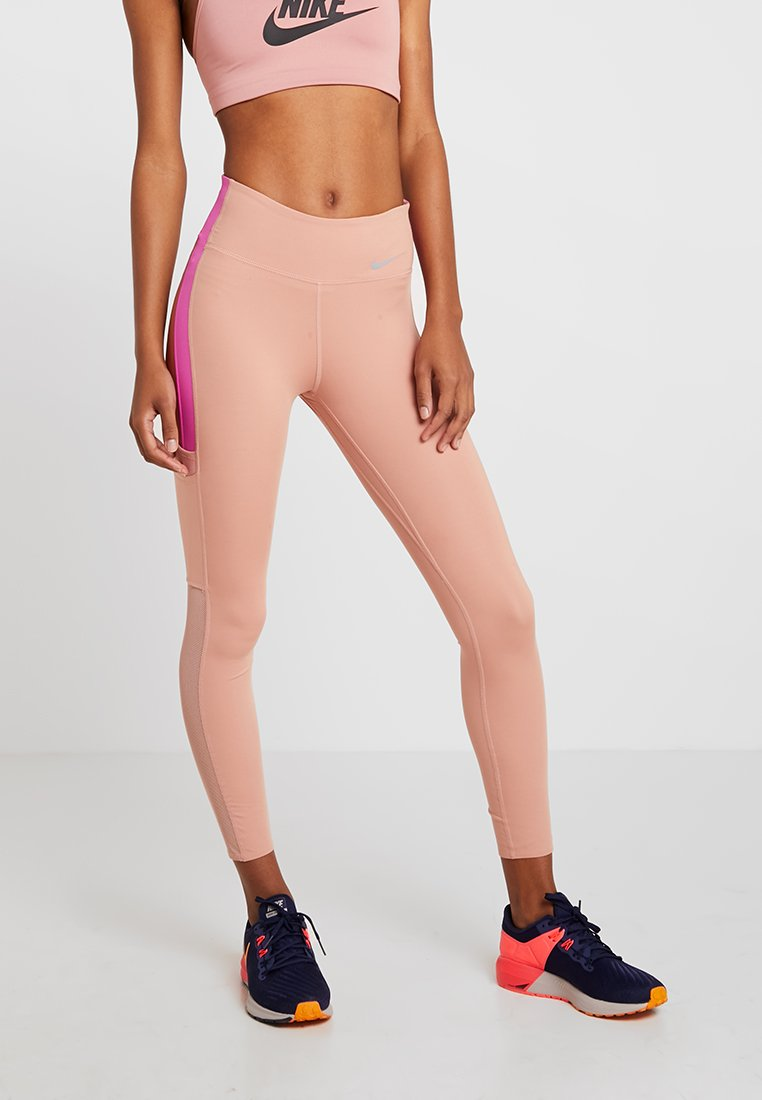 Nike Performance - ALL IN LUX - Legginsy - rose gold/active fuchsia/reflective silver