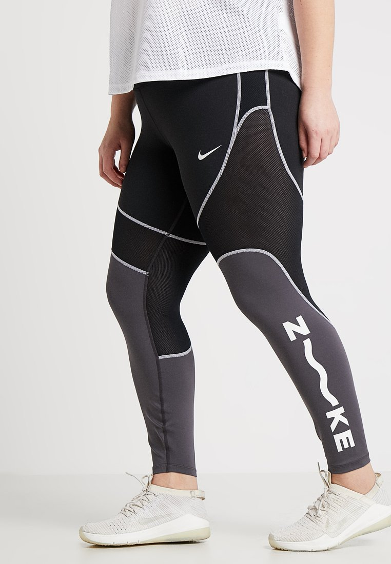 Nike Performance - ALL IN PLUS - Tights - black/thunder grey/white