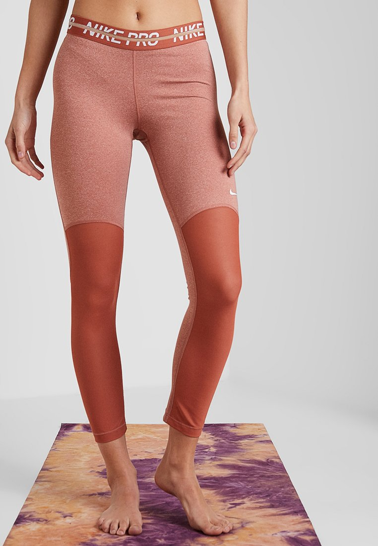Nike Performance - HEATHER  - Tights - dusty peach