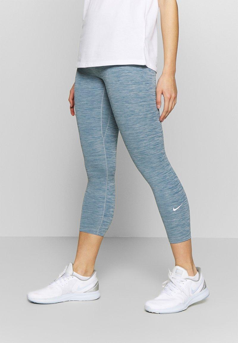 Nike Performance - ONE CROP - Leggings - valerian blue/white