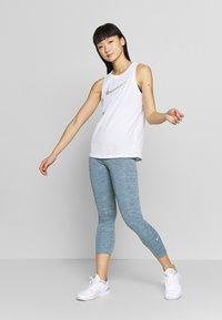 Nike Performance - ONE CROP - Leggings - valerian blue/white - 1