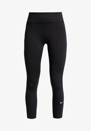 ONE TIGHT CROP - Leggings - black/white