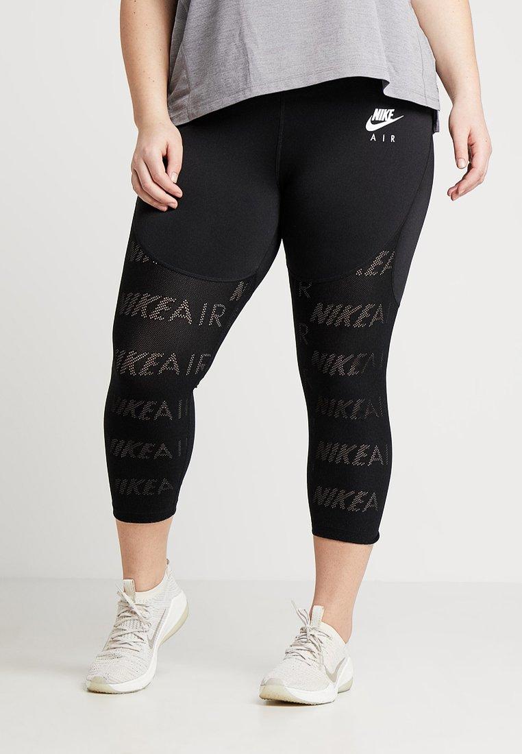 Nike Performance - AIR CROP PLUS - Leggings - black/white