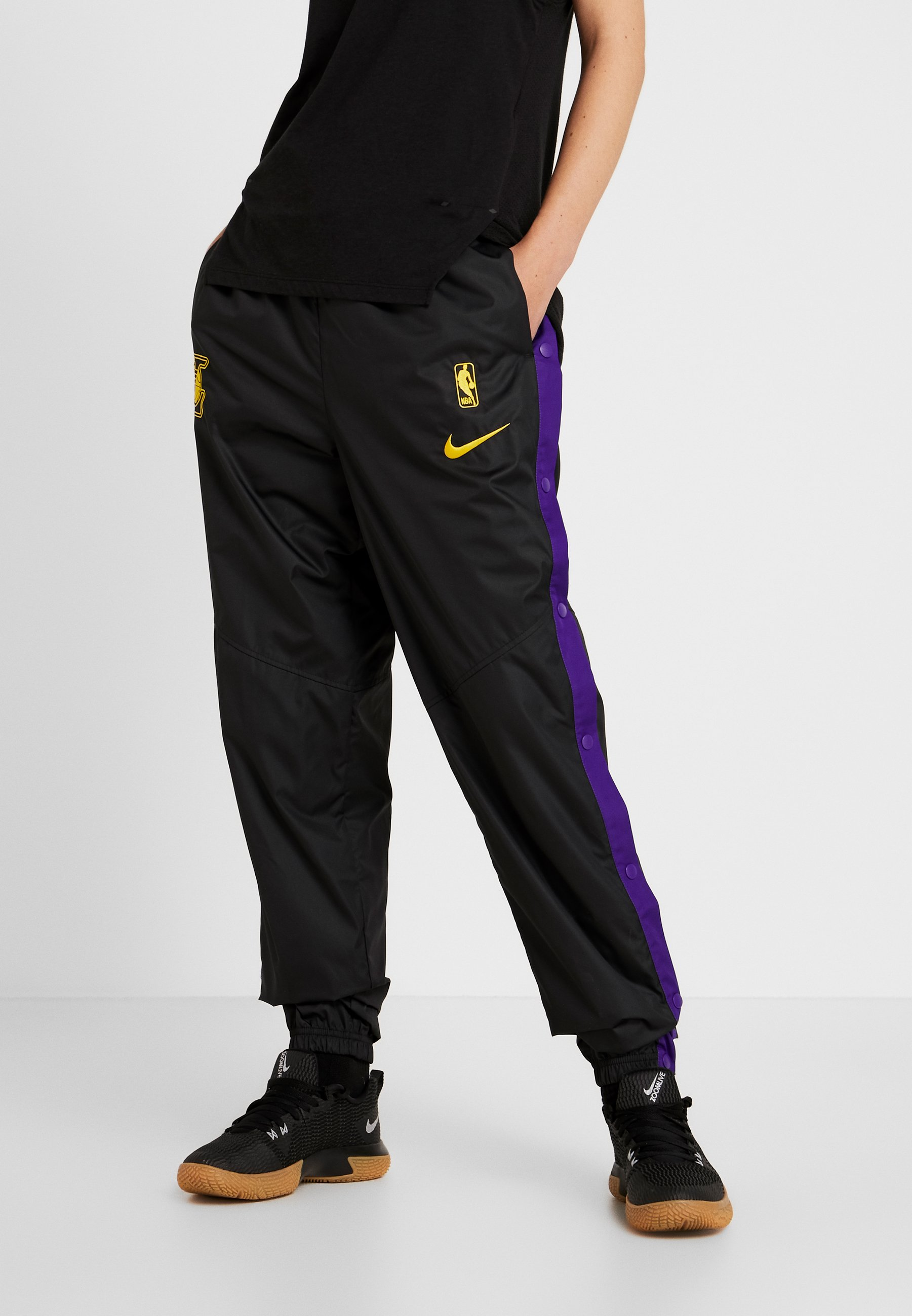 NBA LA LAKERS WOMENS SNAP PANT Article de supporter blackfield purple