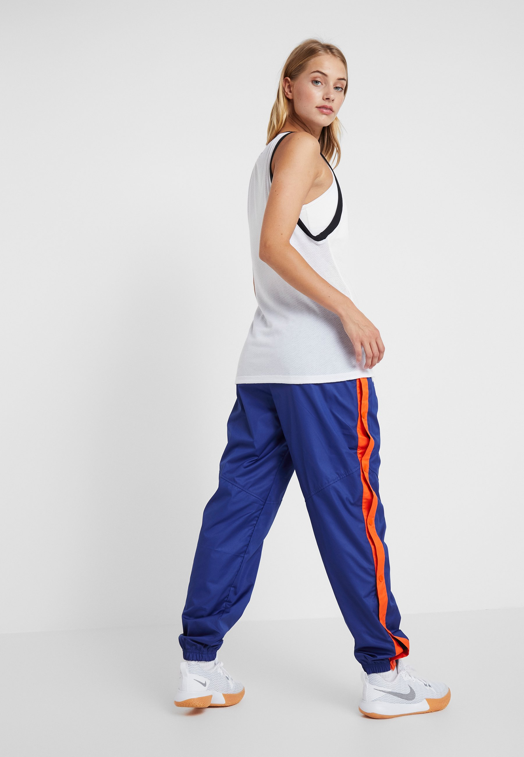 NBA NEW YORK KNICKS WOMENS SNAP PANT Article de supporter rush bluebrilliant ornge