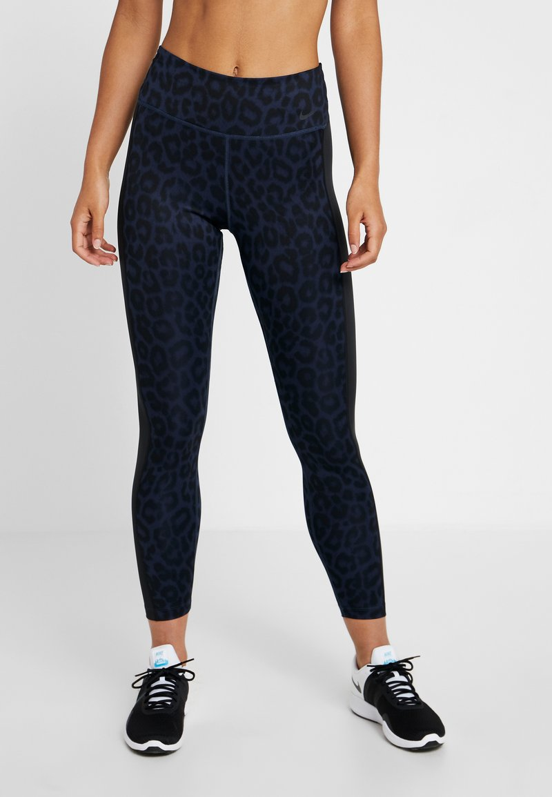 Nike Performance - ONE 7/8 - Tights - midnight navy/black/white