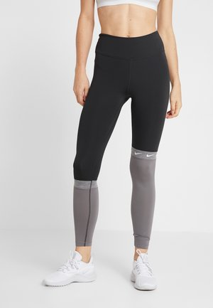 ONE - Leggings - black/gunsmoke/black