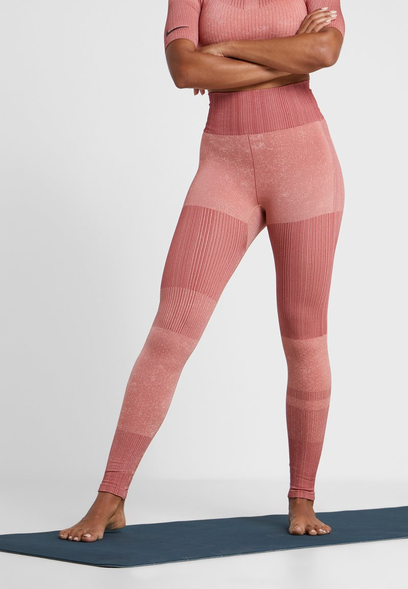 Nike Performance - CITY - Tights - pink quartz/cedar/silver