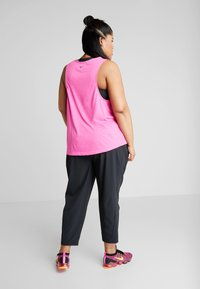 Nike Performance - PANT PLUS - Tracksuit bottoms - black/reflective silver - 2