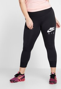 Nike Performance - FAST AIR PLUS - Legging - black/white - 0