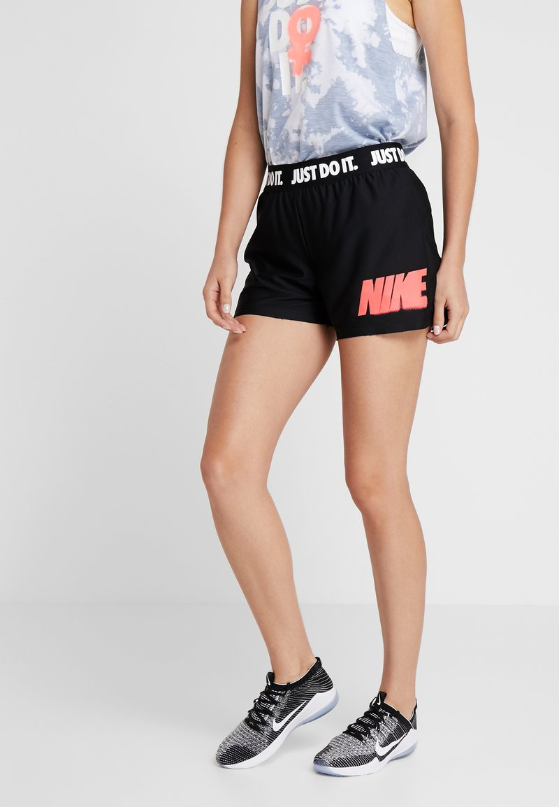 Nike Performance - REBEL SHORT  - Pantalón corto de deporte - black/white/bright crimson